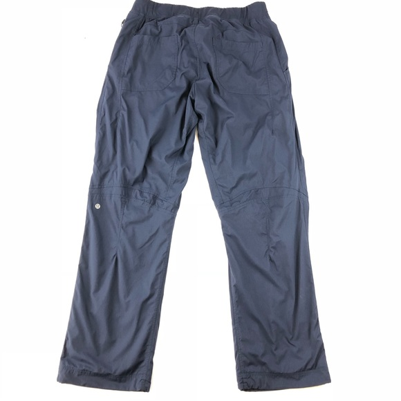 37a158933a5743 lululemon athletica Other - Lululemon Lined Great Wall Pants Blue Stripe 2XL